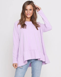 Holly Frill Top - Lilac