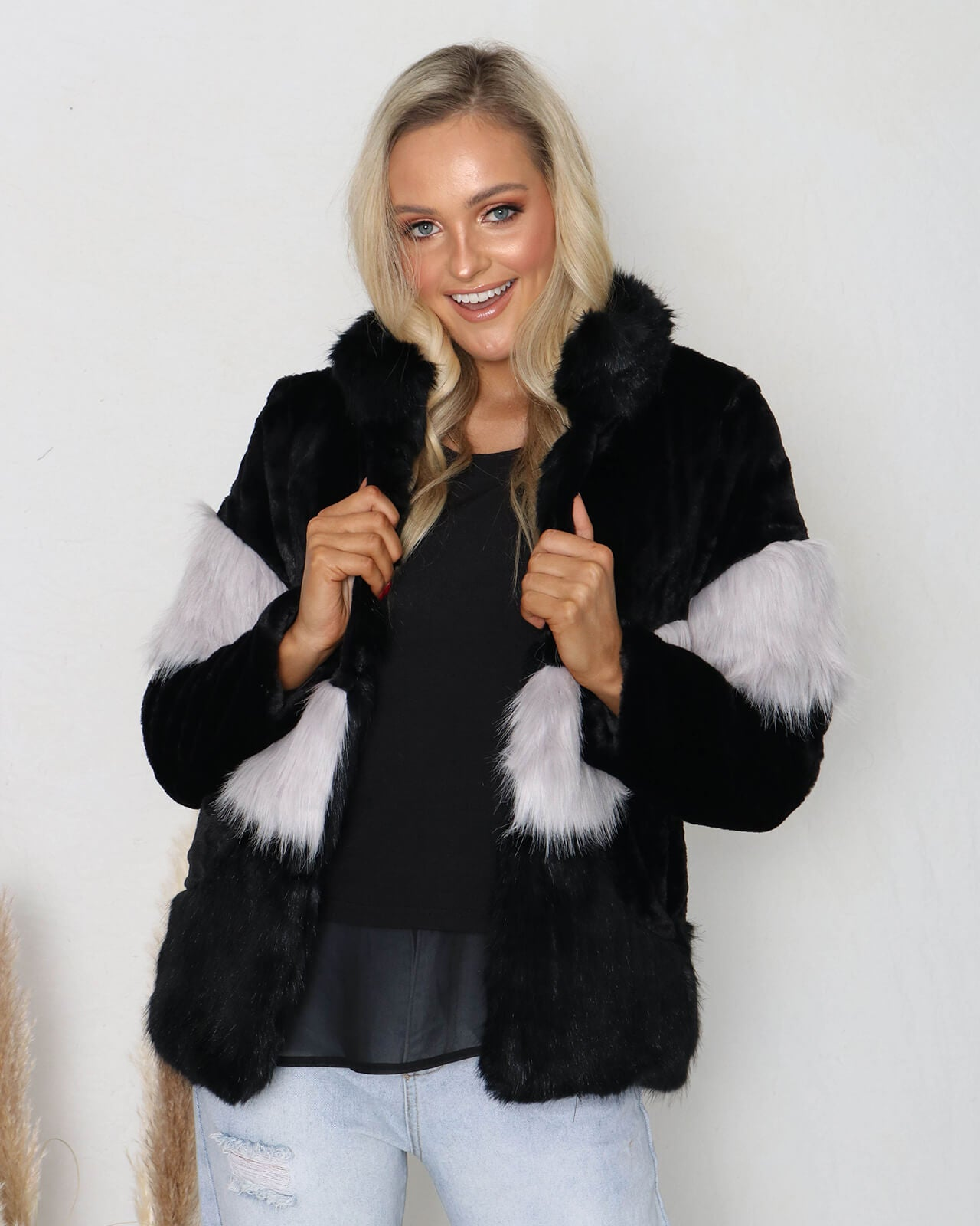 Kendall Faux Fur Jacket - Black