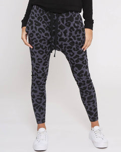 Joggers Three Pair Bundle - Jade Black / Mila Khaki Leopard /Mila Gunmetal Grey Leopard