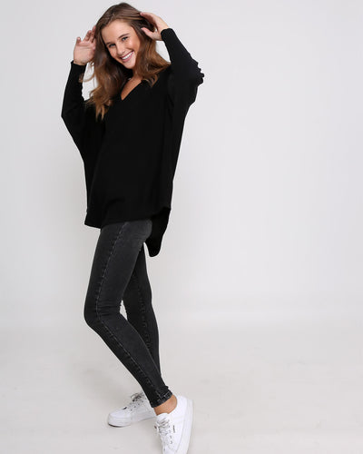 Zali Knit Top - Black