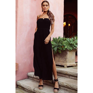 Dream Linen Jumpsuit Black