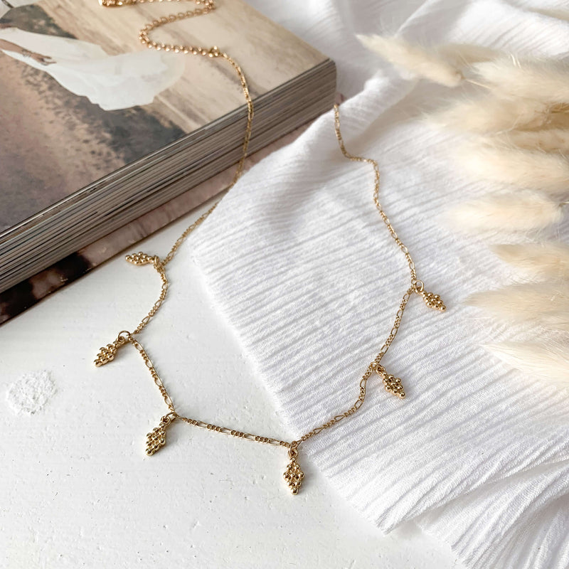 Cluster Charm Choker - Gold