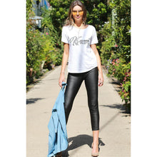 Khloe Sequin Tee - White