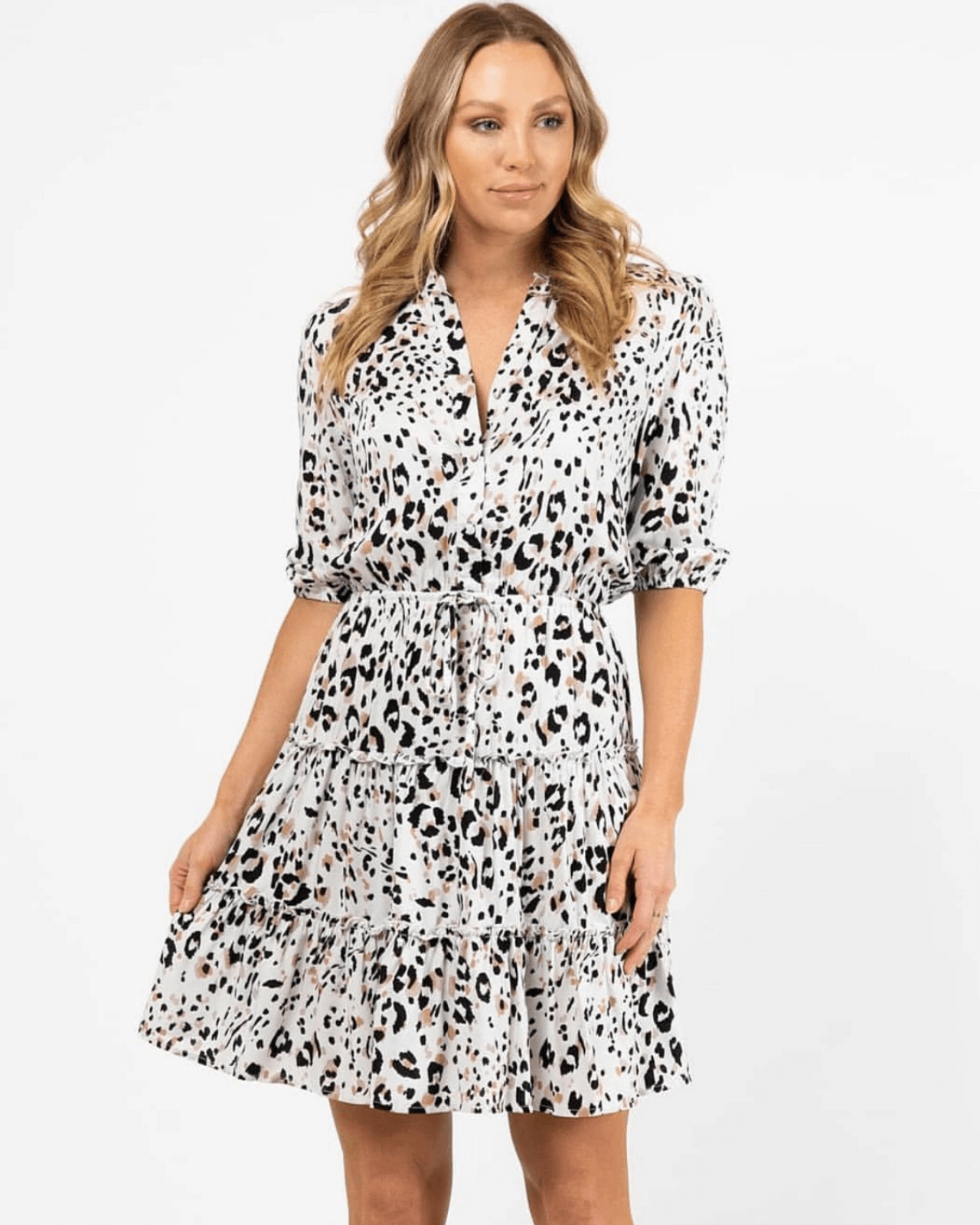 Ella Dress - Snow Leopard
