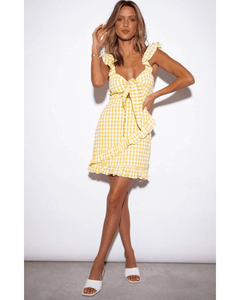 Croatia Dress - Yellow Gingham