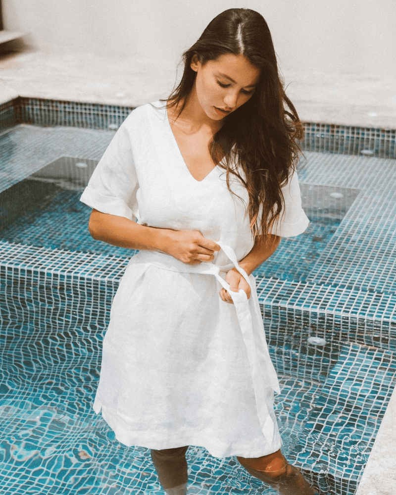Lorelle Linen Dress - White