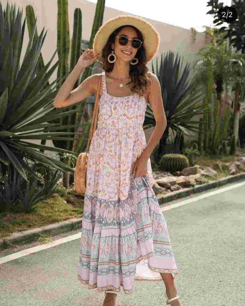Gabby Sun Dress - Pale Pink