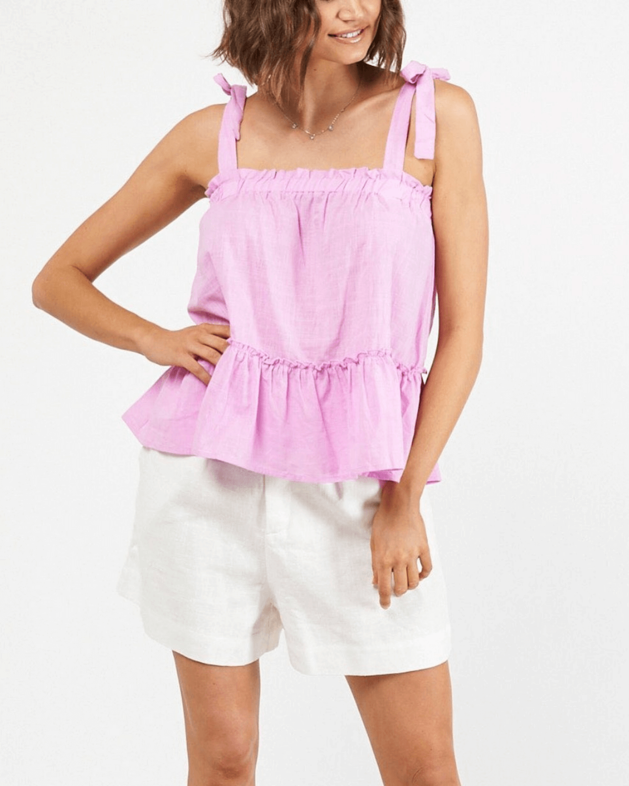 Macey Frill Top - Lilac