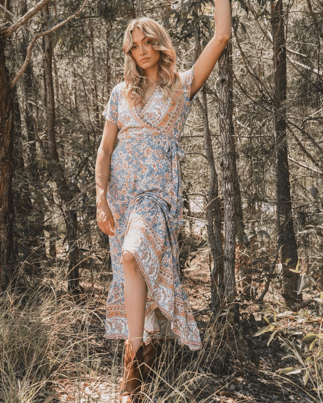 Stevie Maxi Dress - Vintage Blue