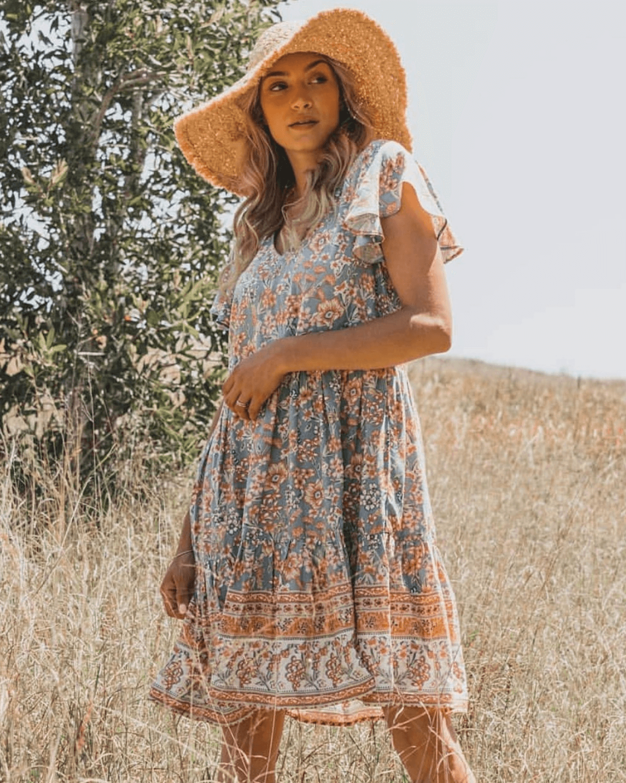 Stevie Summer Dress - Vintage Blue