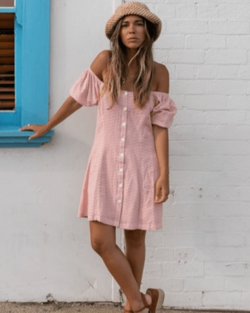 Coco Mini Dress - Blush