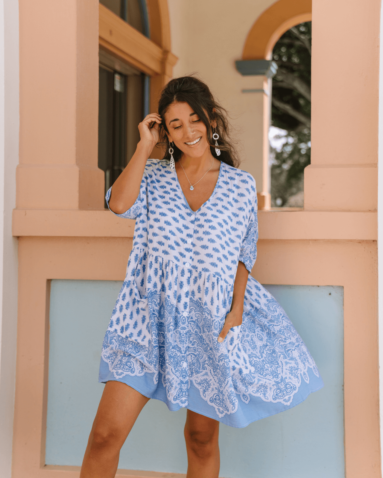 Sundaze Tunic Dress - Sky