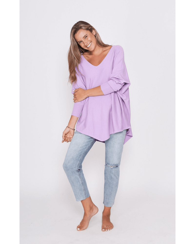 Zali Knit Top - Lilac
