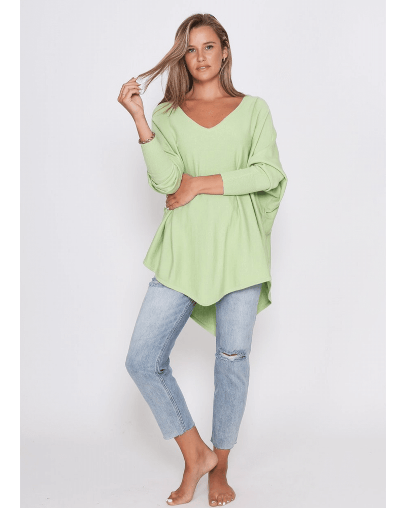 Zali Knit Top - Lime