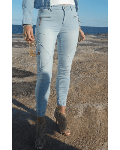 Brooklyn Jogger Jeans - Ice Blue