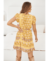 JAASE Abio Mini Dress - Tumeric Print