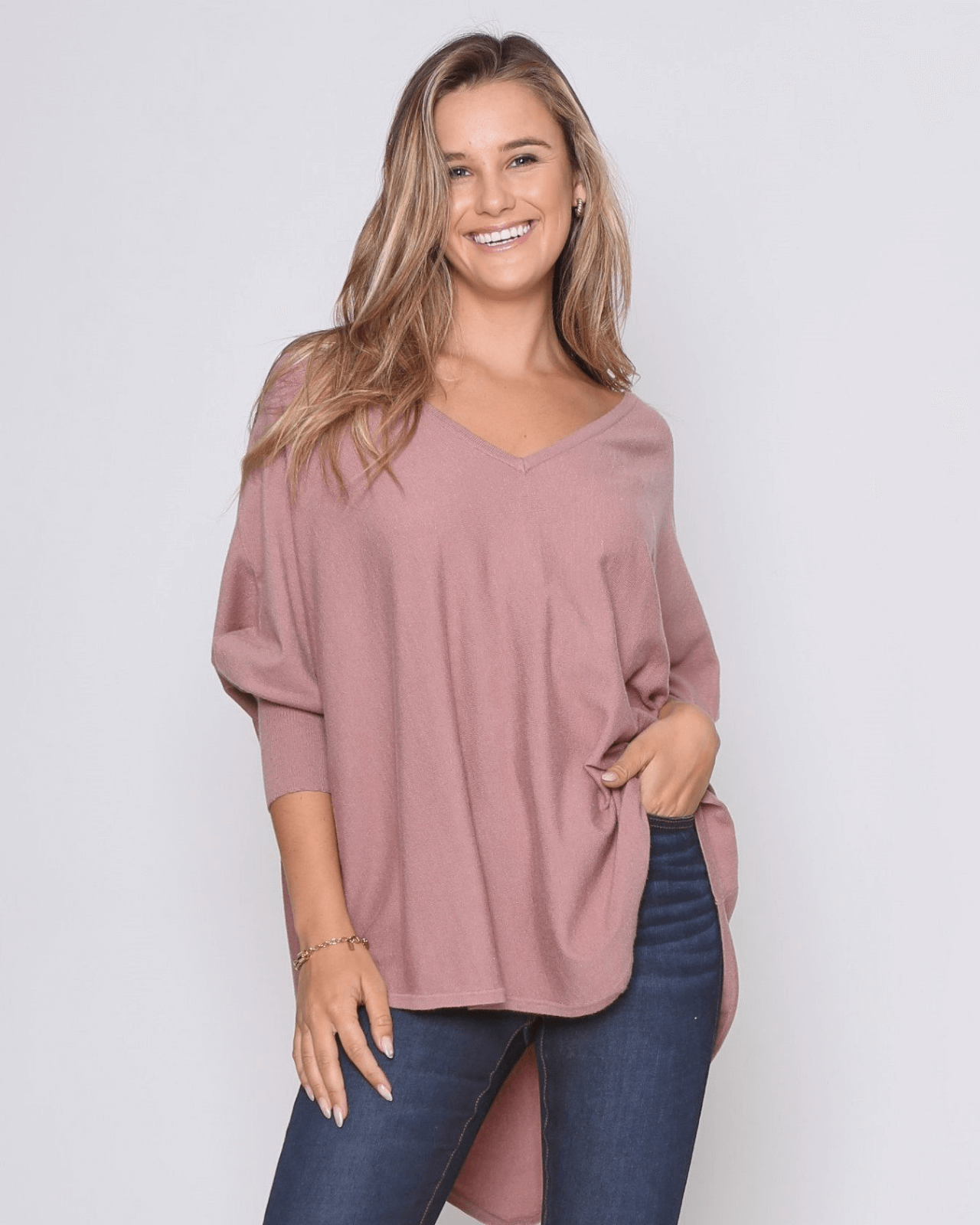 Zali Knit Top - Blush