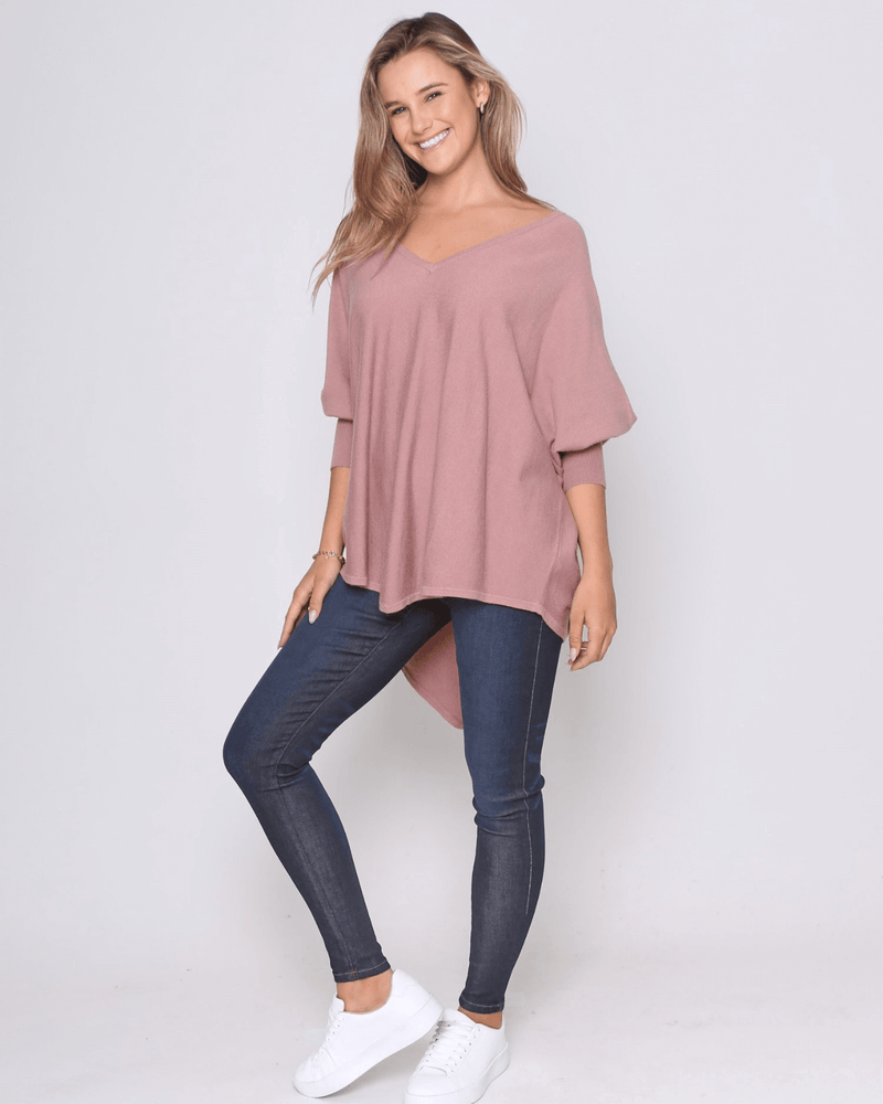 Zali Knit Top - Blush PRE -ORDER
