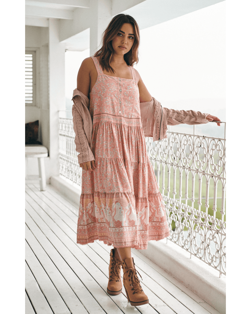 JAASE Rosella Gypsy Dress - Swan Lake Peony Pink