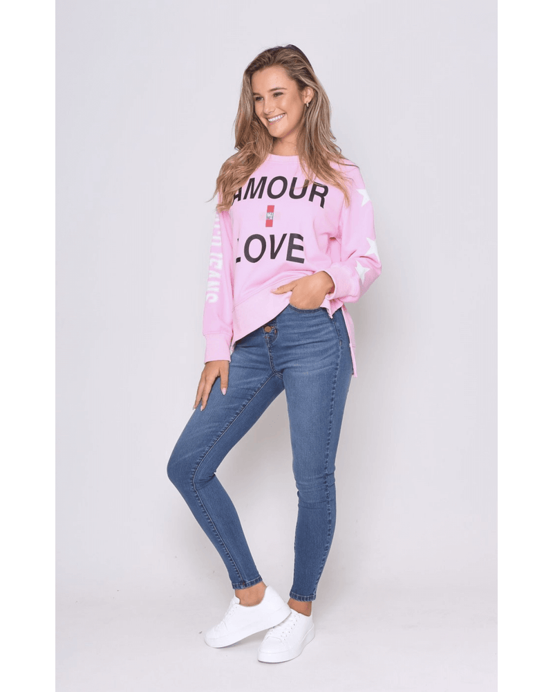 Love Sweater - Pale Pink