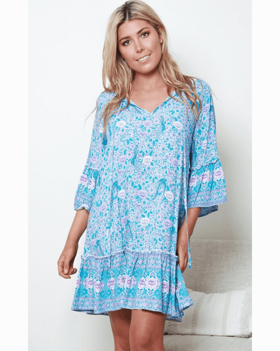 Becca Dress - Blue Floral