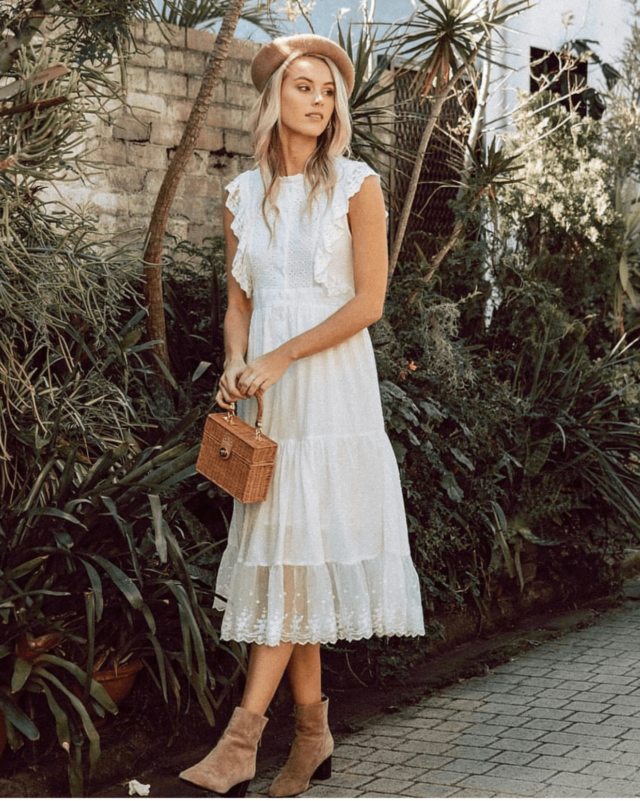 Angel White Midi Dress