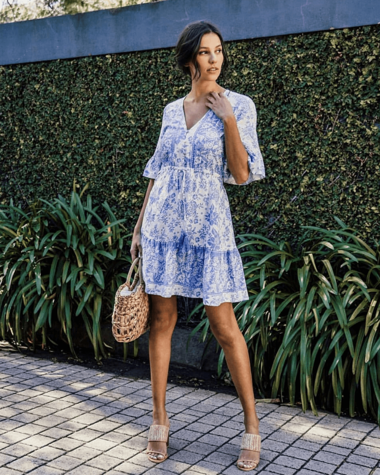 Veronica Dress - Blue Floral