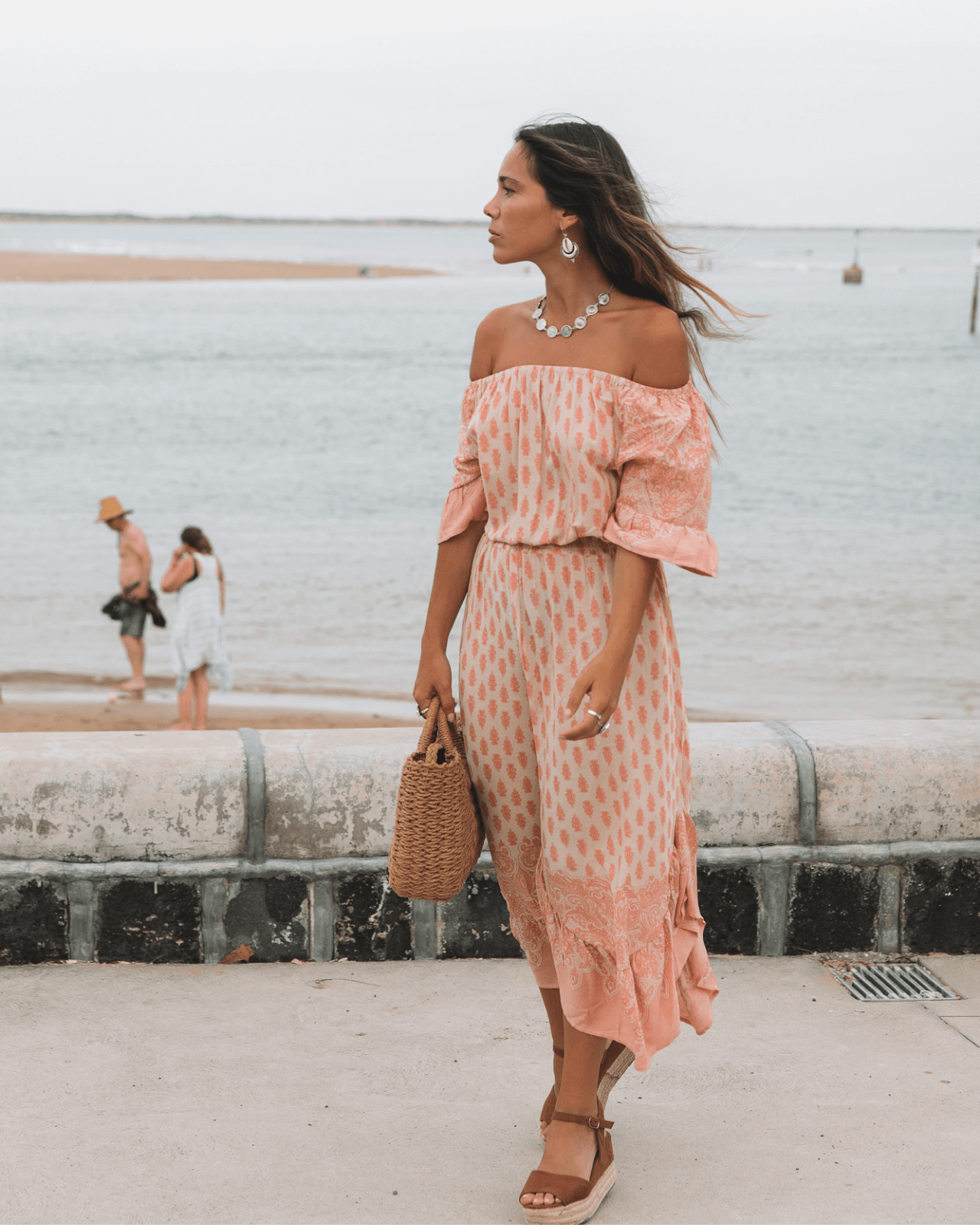 Sundaze Maxi Dress - Peach Sunset