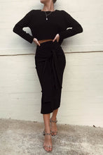 Sasha Crop Sweater - Black