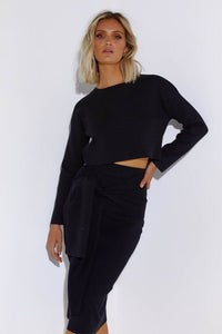 Sasha Knit Skirt - Black