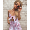CANDY STRIPE PLAYSUIT