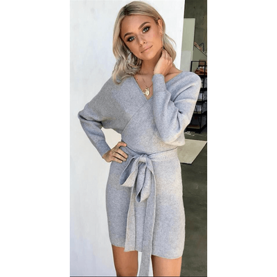 Skylar Knit Dress - Grey