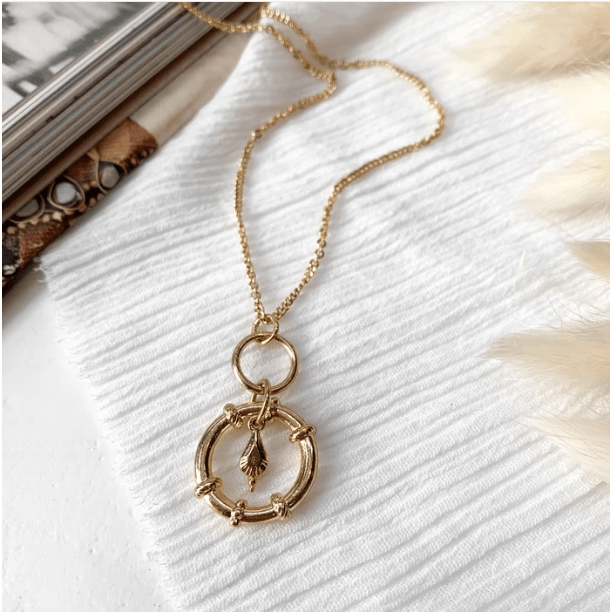 Tabra Pendant Necklace - Gold