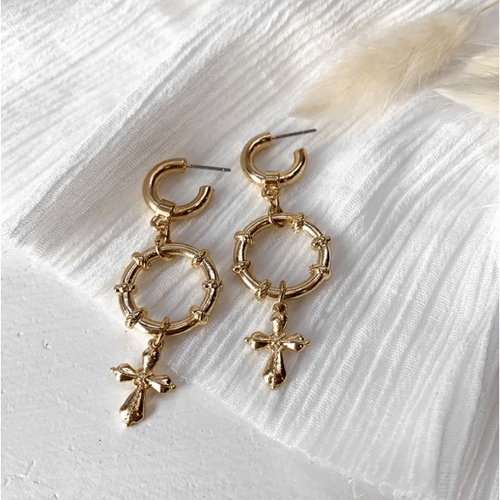Maverick Earrings - Gold