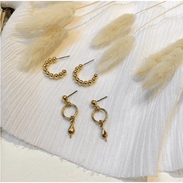 Cooper Earring Set - Gold