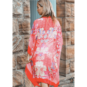 Tobi Cape - Red Floral
