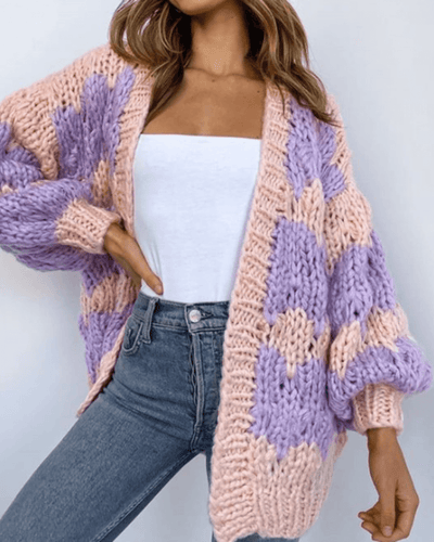 Mimi Handmade Cardi - Lilac and Peach