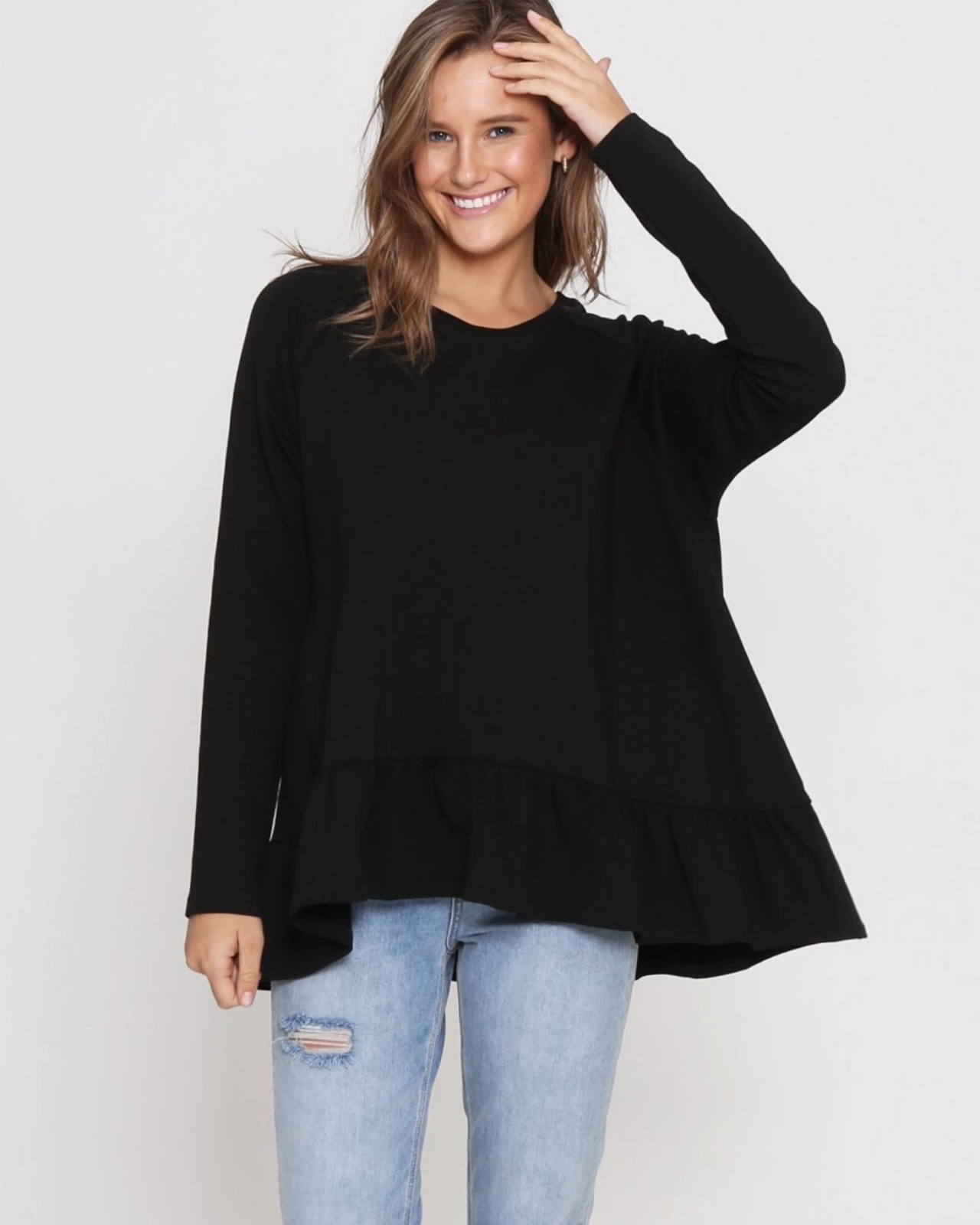 Holly Frill Top - Black