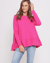 Holly Frill Top - Hot Pink