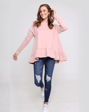 Holly Frill Top - Blush Pink