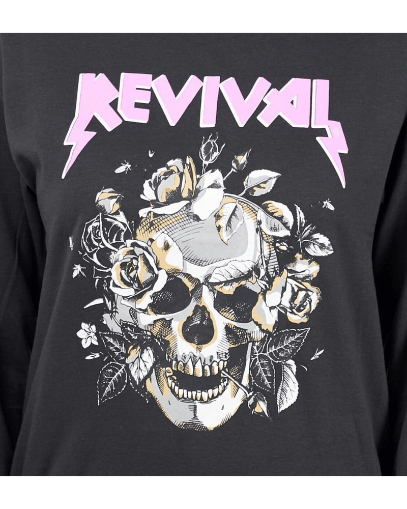 Revival Sweat - Vintage Washed Black