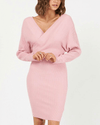 Dolly Ribbed Knit Dress - Pink