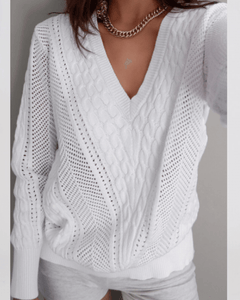 Rashida Knit Jumper - White