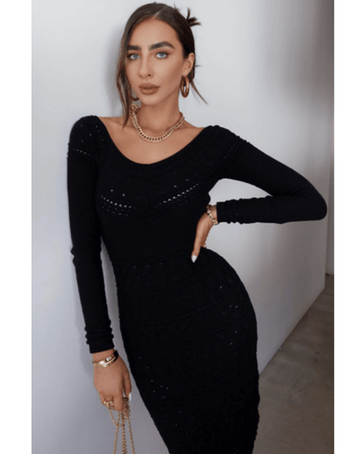 Yvonne Knit Dress - Black