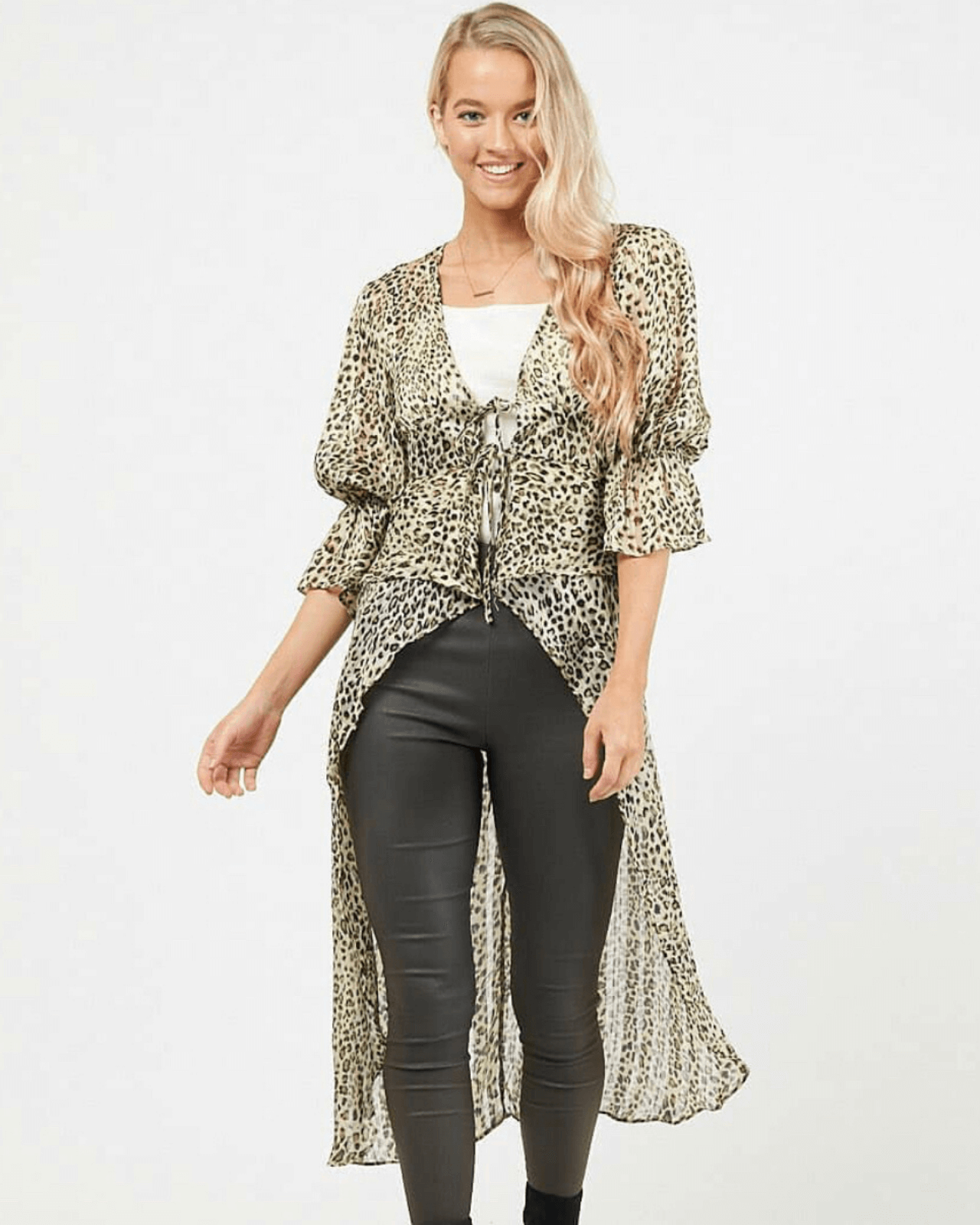 Winnie Cape Top - Animal Print