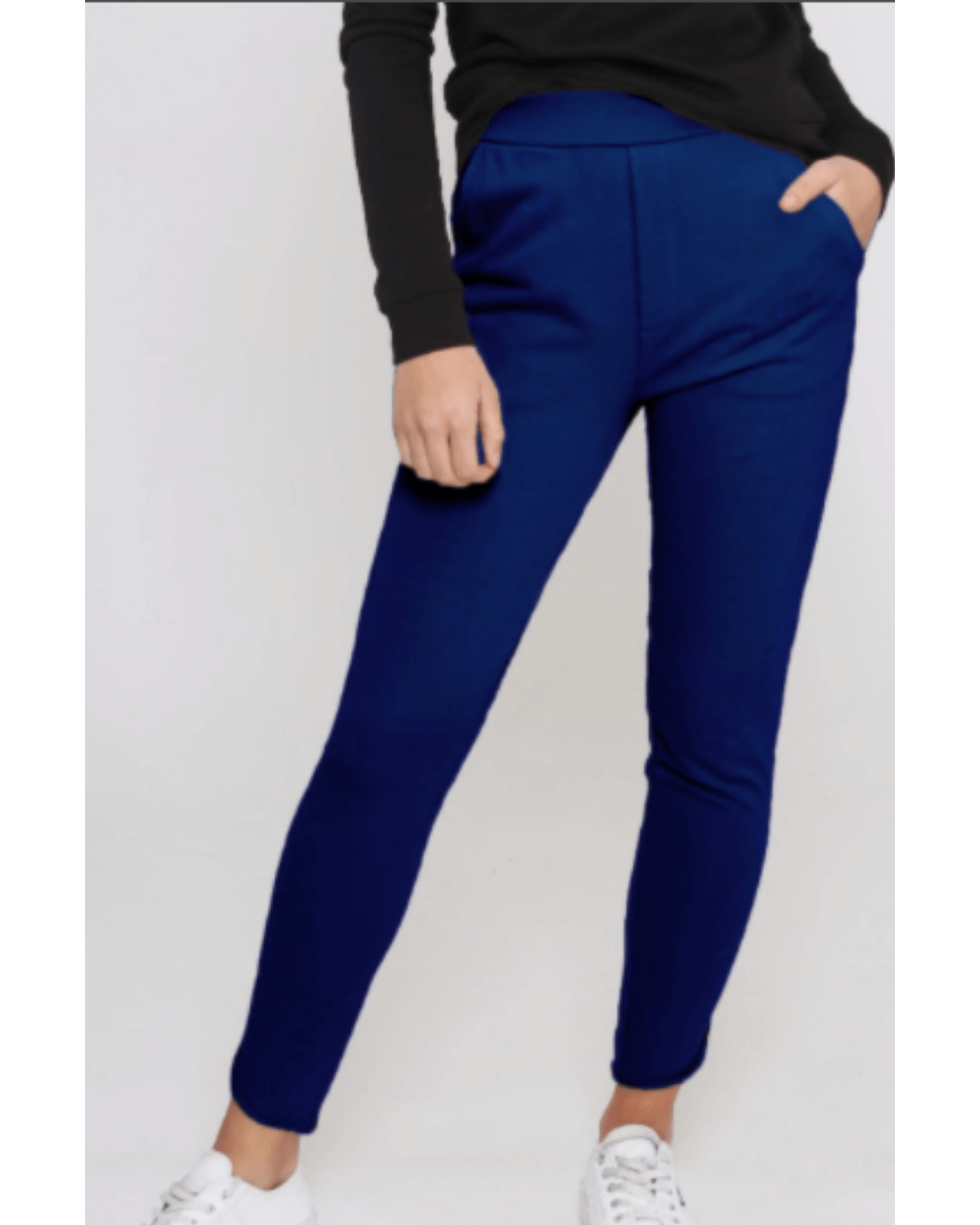 Leoni Luxe Lounge Pants - Navy