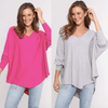 Two Zali Knit Tops Bundle - Fushcia and Grey