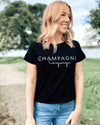 Champagne Campaign Tee - Black