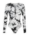Trey Bodysuit - Black Tie Dye