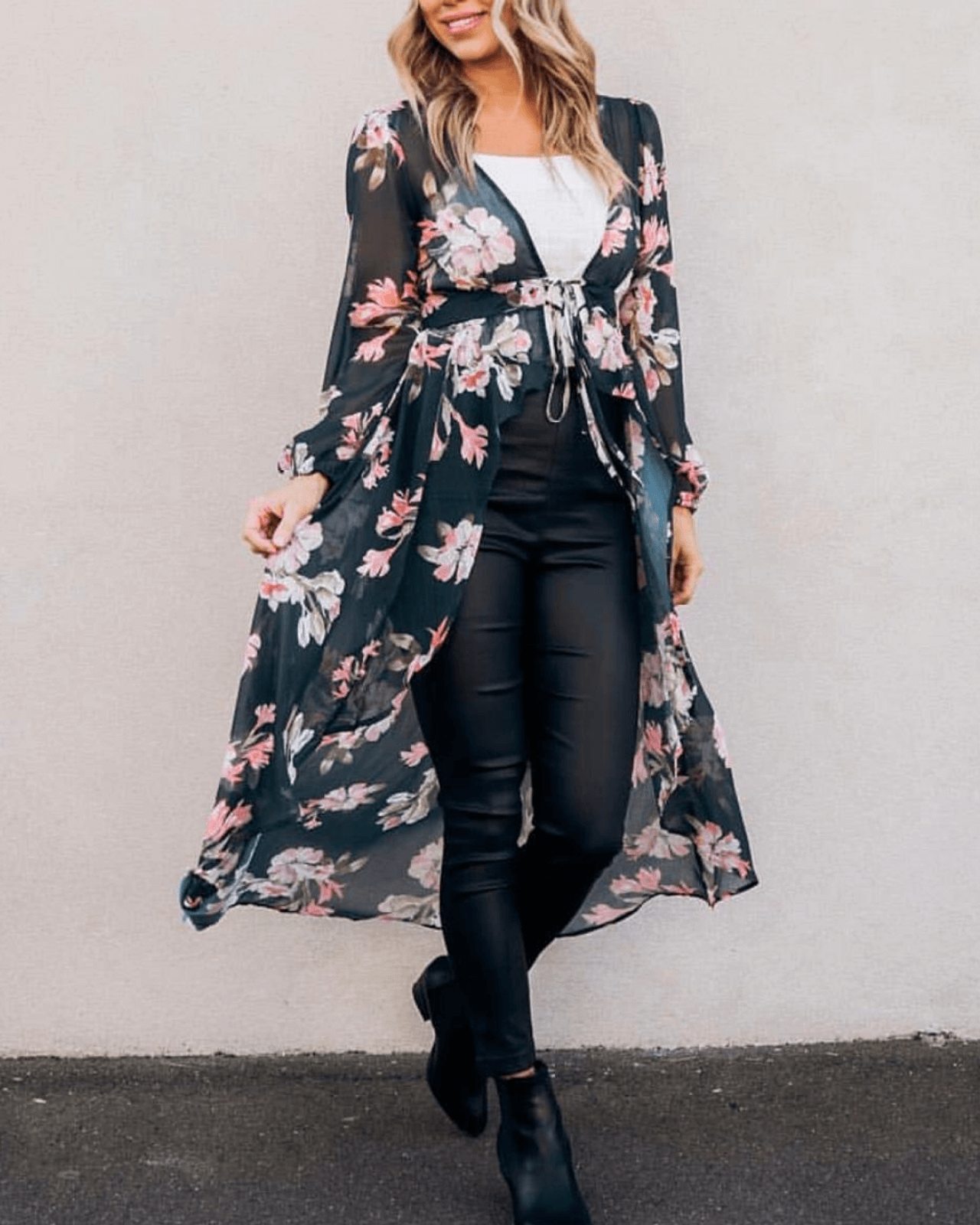 Ryder Cape Dress - Dark Emerald Floral